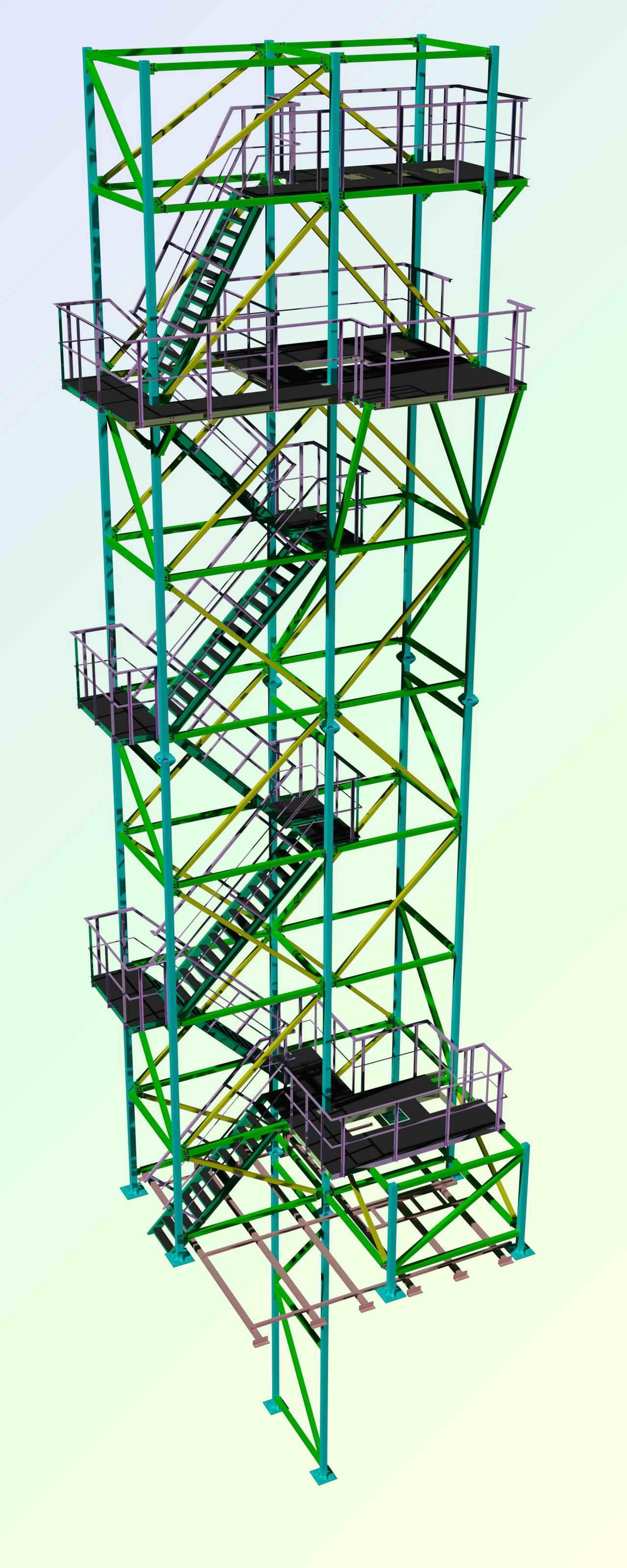 Пример проекта КМД лестницы